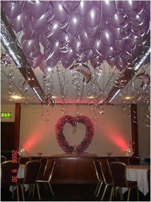 Lilac Balloon Ceiling