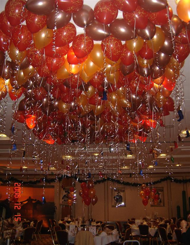 Red & Orange Balloon Ceiling