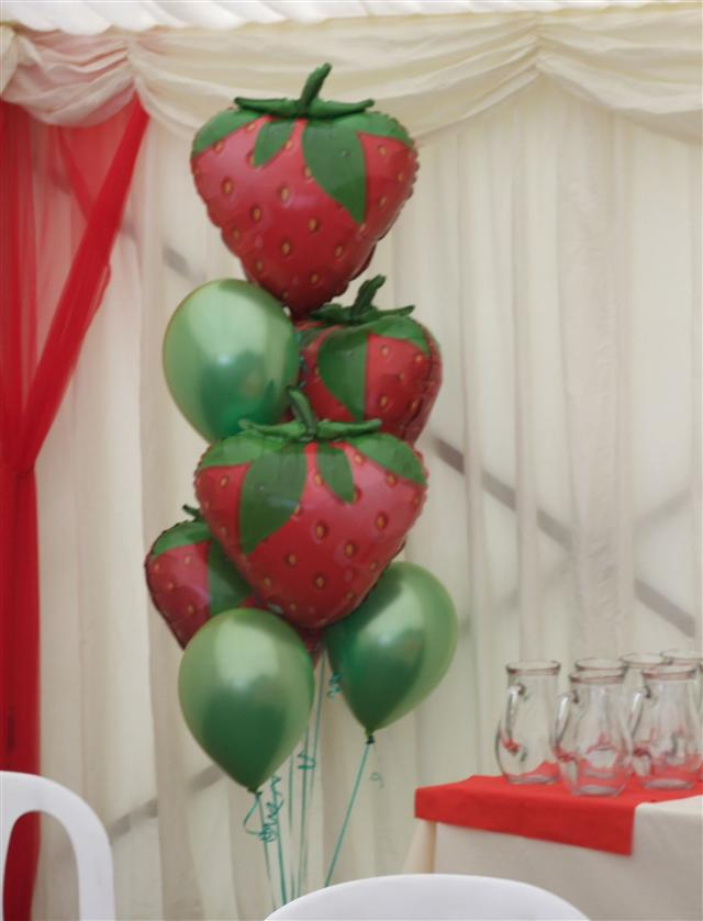 Strawberry Balloons for a Promotion